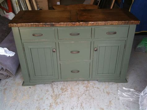 Hand Crafted Distressed, Painted Sideboard By Jeremy
