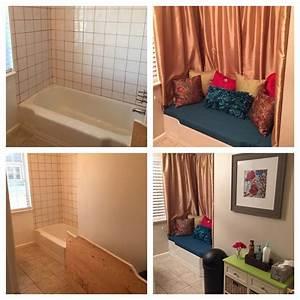 Converted, An, Unused, Bathtub, Into, A, Sitting, Area