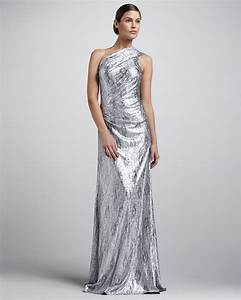 metallic wedding guest dresses silver one shoulder With one shoulder dress for wedding guest