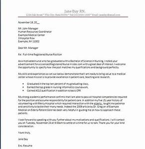 New Graduate Registered Nurse Cover Letter Nursing Cover Letter New Grad Nurse Cover Letter Example