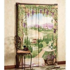 tuscany window art mural trompe l oeil curtain trompe l