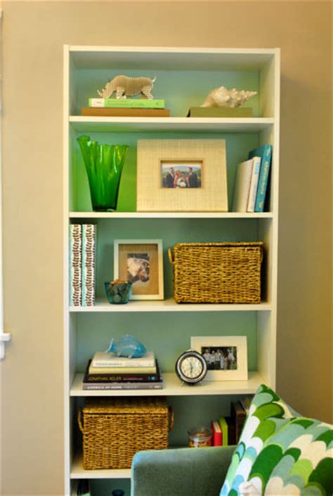Painted Billy Bookcase by An Ikea Bookcase Look Built In Painting The Back