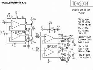 Tda2004 Stereo Car Radio Amplifier Circuit