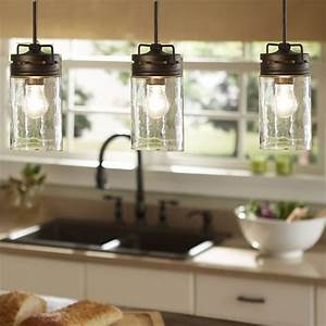 Glass pendant lights over kitchen island : The world s catalog of ideas