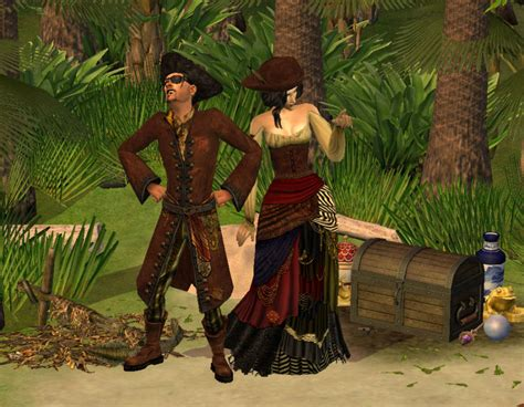 mod  sims pirate king  queen clothing