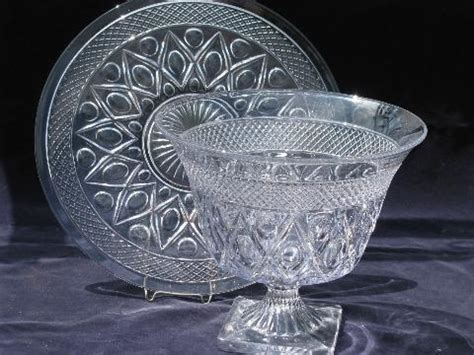 Cape Cod Vintage Imperial Glass Torte Plate And Large Urn