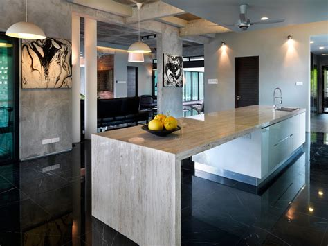 marble kitchen island s11 house in selangor malaysia by archicentre