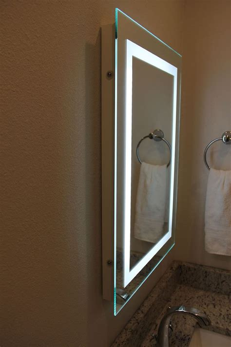 Bathroom Mirrors Illuminated by Mirrors Backlit Bathroom Mirror For Your Modern