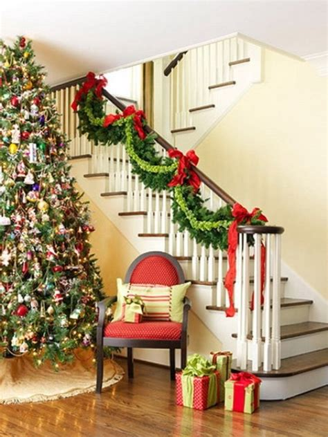 red  green stair garland pictures   images