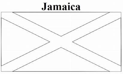 Jamaica Flag Coloring