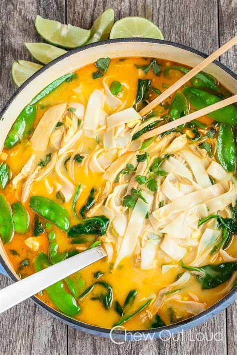 This spicy chicken curry soup recipe contains an ingredient that i don't use very often: Coconut Curry Chicken Noodle Soup Recipe   Just A Pinch ...
