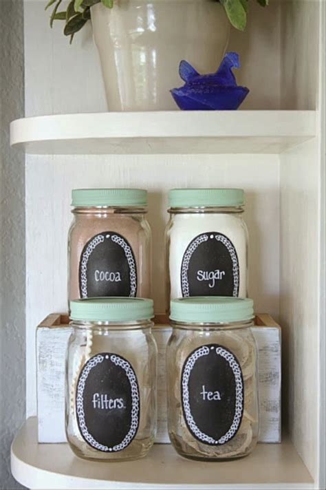 decoart blog crafts chalkboard mason jar kitchen storage