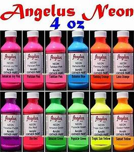 4oz Angelus Acrylic Neon Paint Dye Leather Vinyl Sneaker