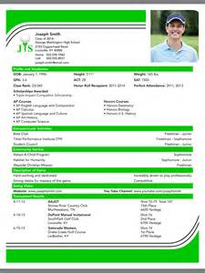 creating a college golf resume straightshot inc