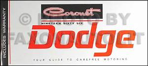 1966 Dodge Coronet   U0026 Dart Repair Shop Manual Original