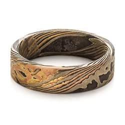 personalized wedding rings custom 39 s mokume wedding band 100583