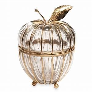 Boite A Bijoux En Verre : boite bijoux pomme en verre et m tal apple glass maisons du monde ~ Farleysfitness.com Idées de Décoration