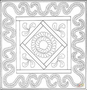 birthday quilt coloring page  printable coloring pages