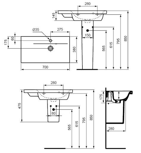 hauteur dun lavabo chaios