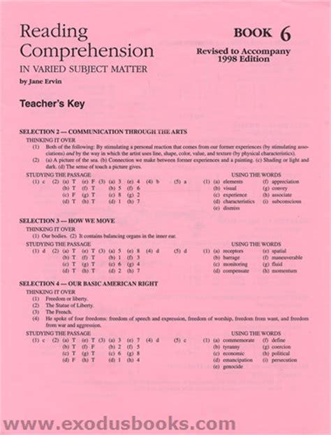 Evan Moor Daily Reading Comprehension Grade 6 Pdf Answer Key  Daily Reading Comprehension Grade