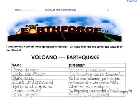 volcano and earthquake worksheets worksheets for all