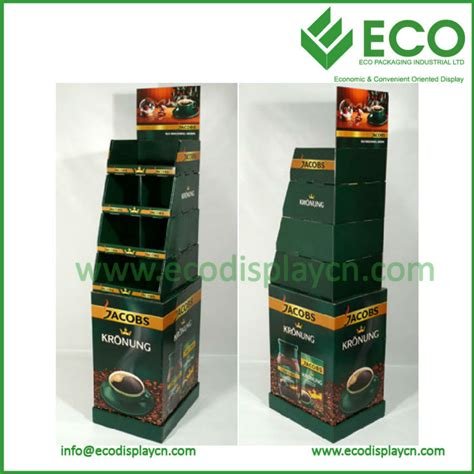 Retail Corrugated Floor Standing Display Units Mug Display Rack,Coffee Mug Cup Display Rack