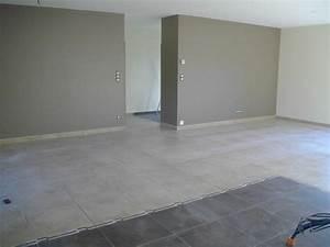carrelage peinture construction maison bbc euromac2 With carrelage salle a manger salon