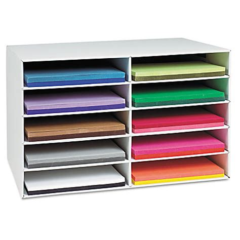 home depot builders paper pacon construction paper storage unit 3 h x 12 14 w x 18 14 d by office depot officemax