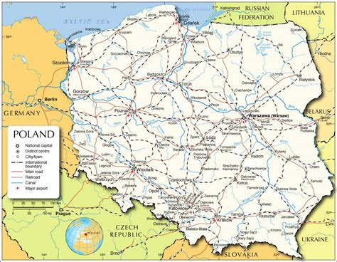 poland map map  polandpoland map  english