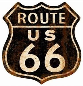 route 66 rusty vintage metal sign street sign rustic With kitchen cabinets lowes with route 66 metal wall art