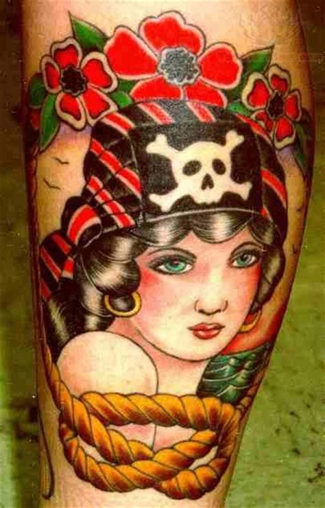 pirate girl tattoo images designs