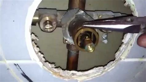 moen  cartridge replacement  shower valve youtube