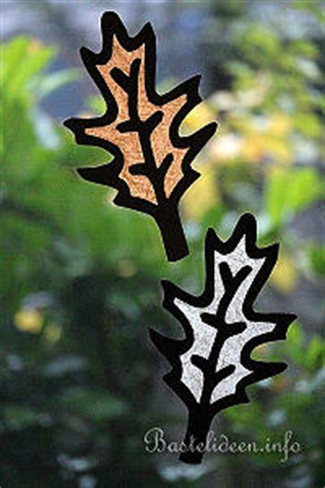 Herbst Baum Fenster by Basteln Im Herbst Herbstblatt Bastelvorlage 2