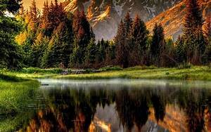 Free, Download, Reflected, Mountain, Scene, Best, Nature, Wallpapers, 1920x1080, For, Your, Desktop