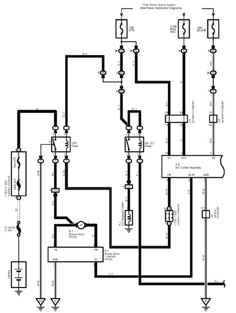 2009 Toyotum Camry Ac Wiring Diagram by I Need A Wiring Diagram For The A C Compressor On A 2004