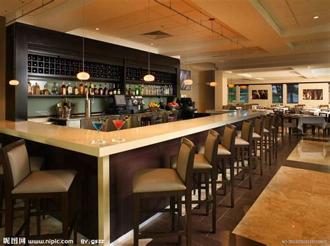 industrial bar table and chairs 餐厅吧台设计摄影图 室内摄影 建筑园林 摄影图库 昵图网nipic com