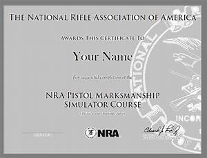 nra pistol marksmanship simulator course training from With nra certificate template