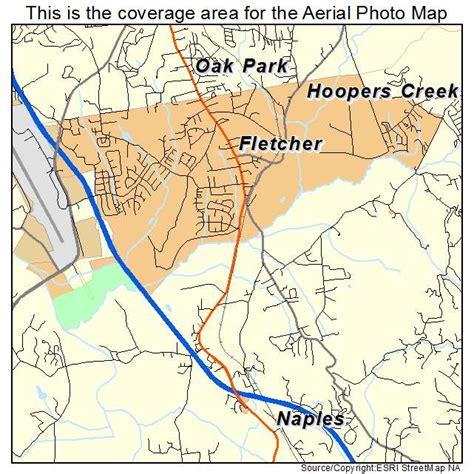 aerial photography map of fletcher nc carolina