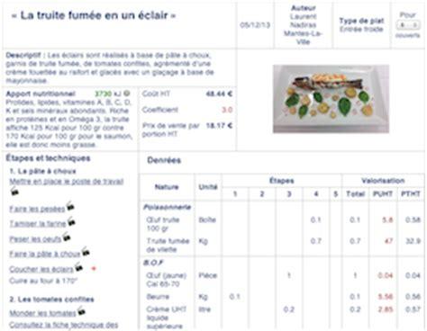 fiche technique cuisine collective logiciel gestion cuisine collective gratuit mouvement