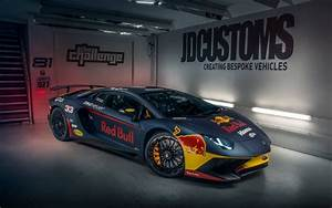 Download wallpapers Lamborghini Aventador, Red Bull, 2017