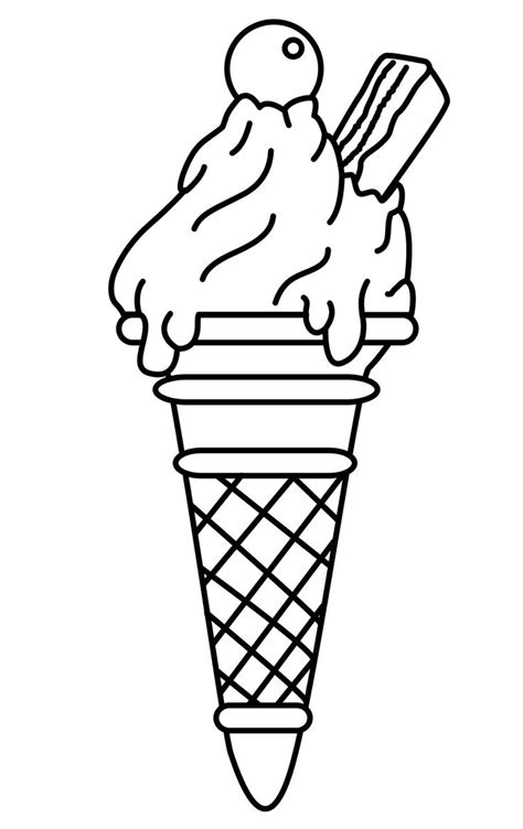 cute ice cream cone drawing  getdrawingscom