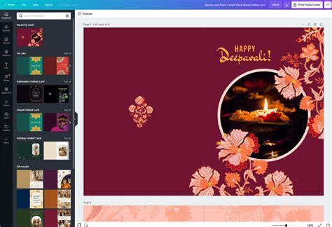 invitation card design  diwali