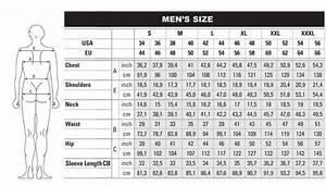 European Men 39 S Clothing Size Conversion Http Www