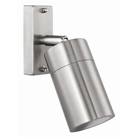brilliant coolum stainless steel adjustable exterior wall light