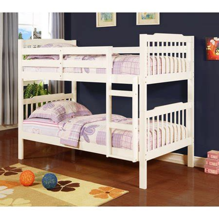 elise youth bunk bed white box    walmartcom