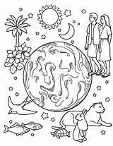 Creation Coloring Days Earth Jason Gods Voorhees Drawing Printable Sheets Bible Element Coloringsun Printables Getdrawings Sunday Getcolorings Night Personable Preschool sketch template