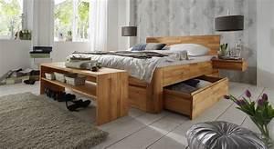 Bett 200x200 Mit Bettkasten : massivholz doppelbett mit bettkasten zarbo ~ Indierocktalk.com Haus und Dekorationen