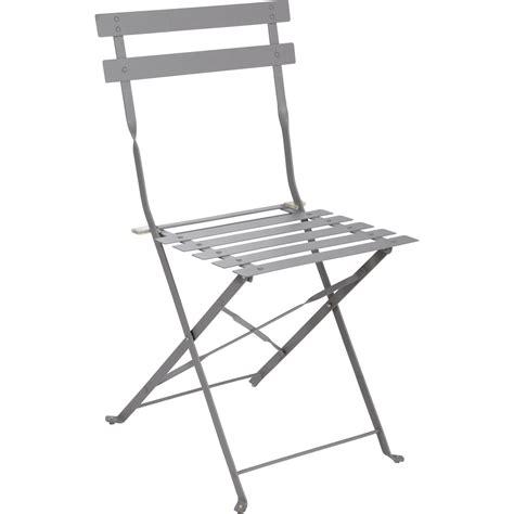 chaise terrasse chaise de jardin en acier flore gris leroy merlin