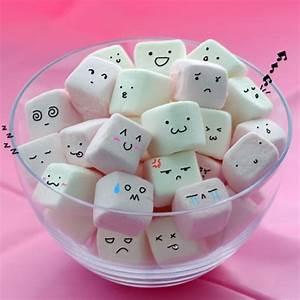 blong, cute, faces, kawaii, marshmallows - image #256597 ...