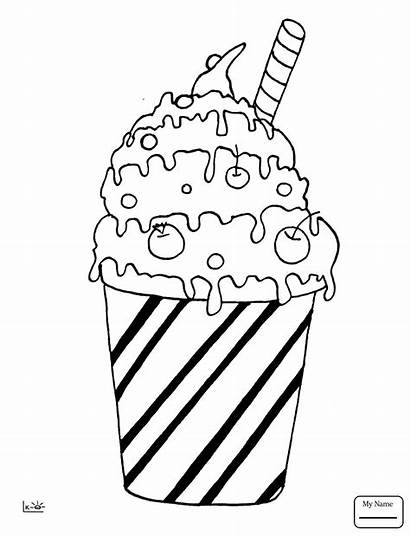 Coloring Pages Cocktail Pancake Milk Sheets Printable